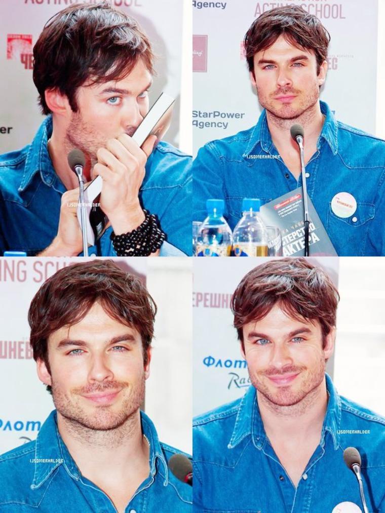 Ian à une conférence de Presse, en rues et a un diner toujours en Russie. | Le 27 mai 2013.
