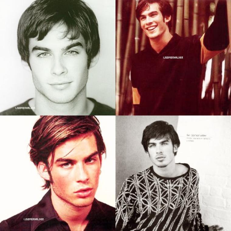 Voici 4 photos de 4 photoshoot différents de Ian. | En 1997.