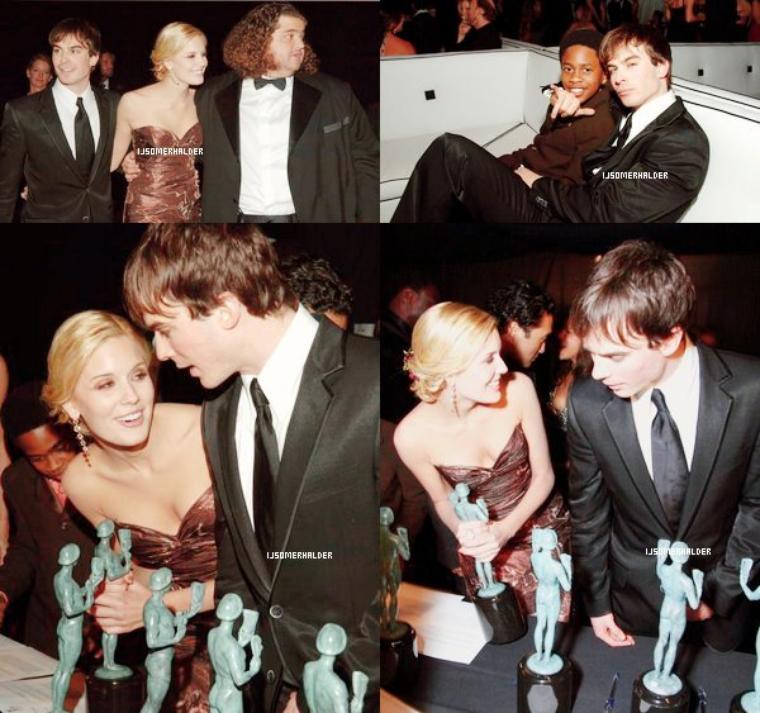 """Ian et le cast de Lost au """"12th annual Screen Actors Guild Awards"""" et a remporter un prix.   Le 29 janvier 2006."""
