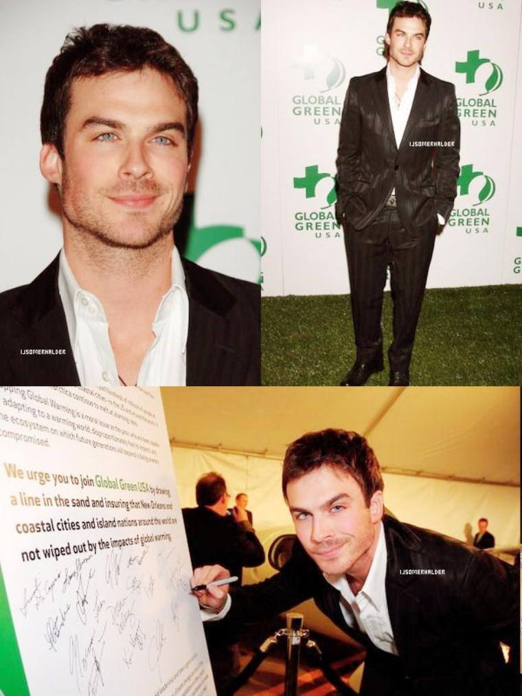 "Ian et le cast de Lost a la ""5th annual célébration des Golden Green Awards"". 