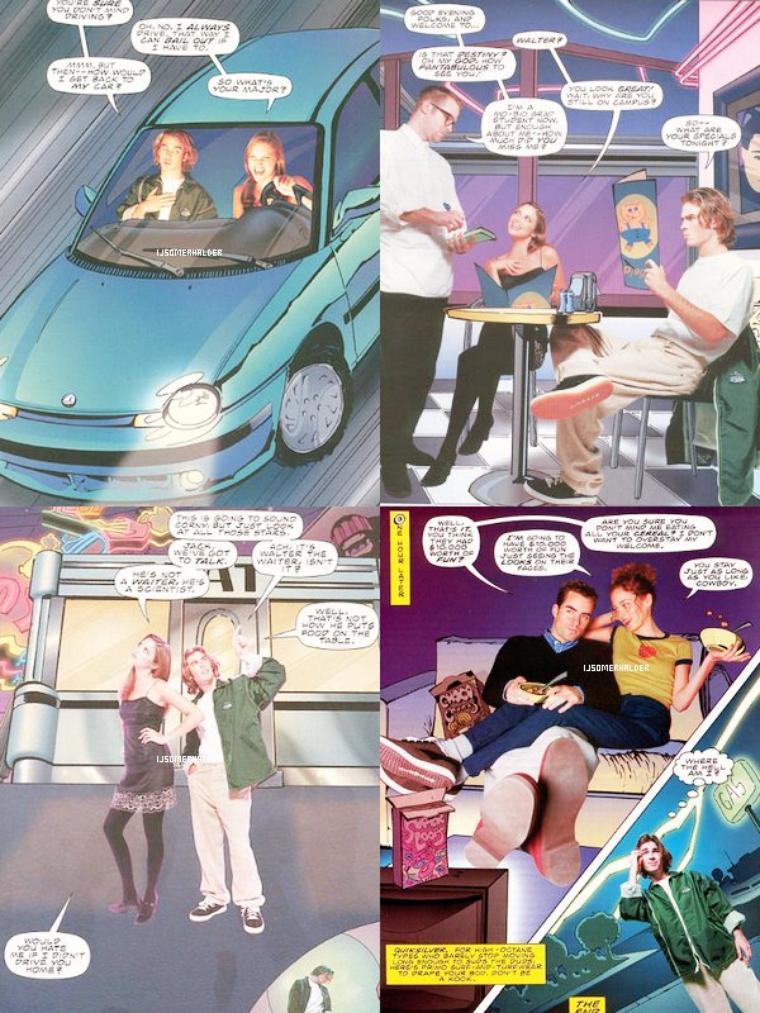 """Shoot de Ian pour une bande dessiné """"A Date With Destiny"""". Ce shoot est trop géniale.   En 1996."""