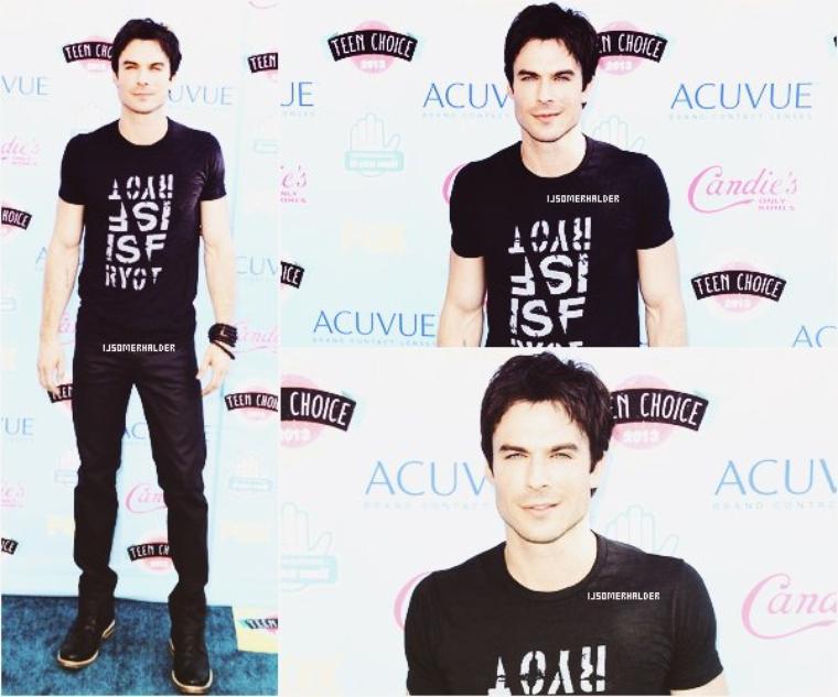 Ian était présent au Teen Choice Awards 2013. | Le 11 aout 2013.