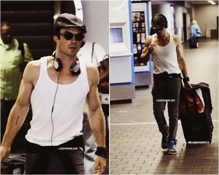 Ian arrivant a l'aéroport de New York. | Le 31 août 2013.