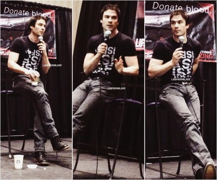 "Ian était a la convention ""Eyecon"" a Atlanta. 