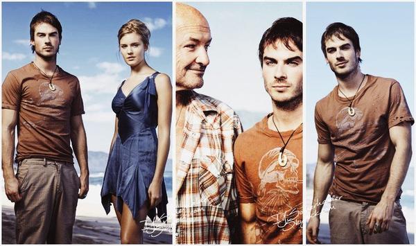 Photoshoot de Ian pour la série Lost avec ces co-stars par Art Streiber. | En 2005.