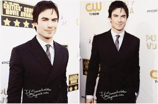 Ian était au Critic's Choice Awards. | Le 16 janvier 2014.