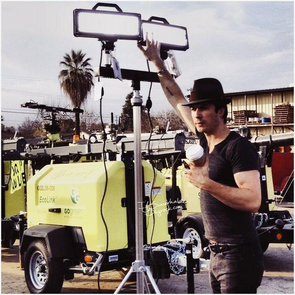 """Ian était à Bakersfield pour suivre les progrès de la """"Go Green Mobile Power"""".   En janvier 2014."""