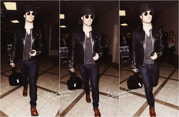 Ian a l'aéroport de LAX. | Le 16 avril 2014.