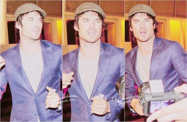 Ian arrivant a son hotel de Sao Paulo au Brésil. | Le 12 mai 2014.