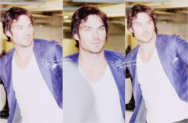 Ian sortant de son hotel de Sao Paulo au Brésil. | Le 13 mai 2014.