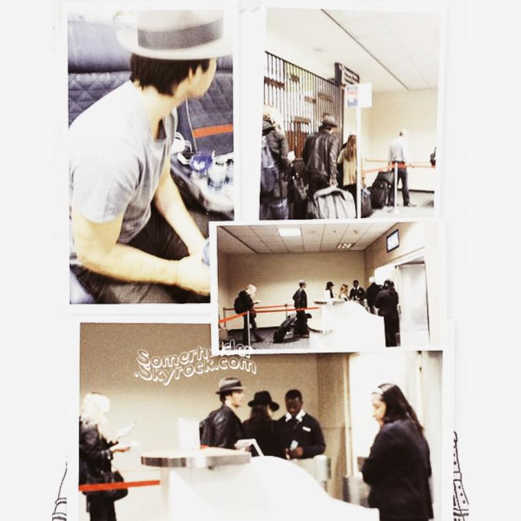 10 Novembre ->Ian et Nikki on été apercu à l'aéroport de Atlanta. Montage pris comme ça.
