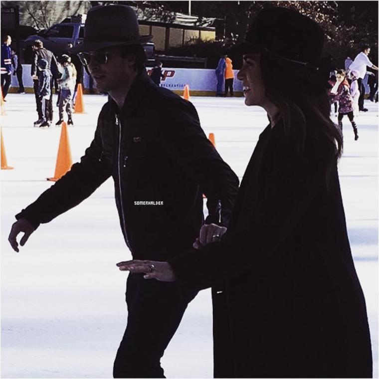 06 décembre ->Ian et Nikki faisant du patinage à Central Park à N.Y.