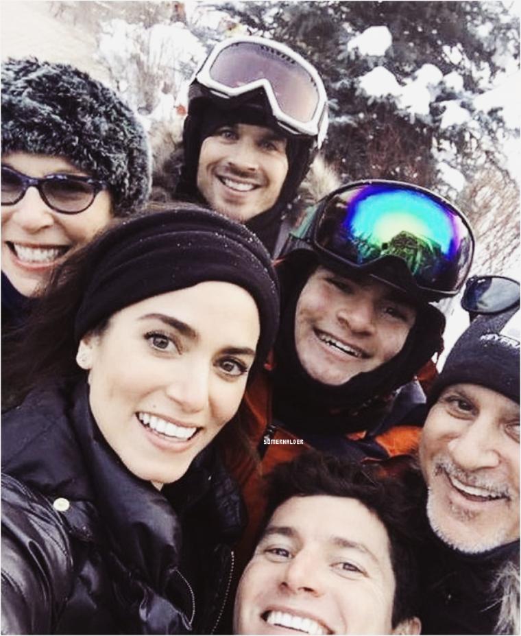 Janvier ->Ian et Nikki avec la famille a Sun Valley Idaho.
