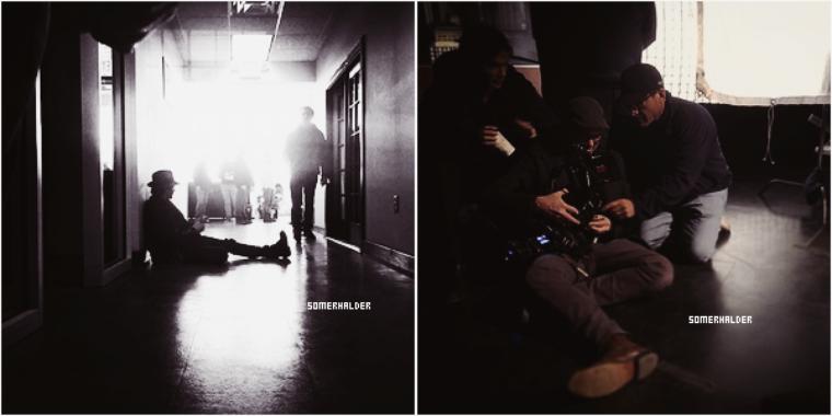 Janvier ->Photo coulisse de l'épisode 7x16 pour lequel Ian est directeur.