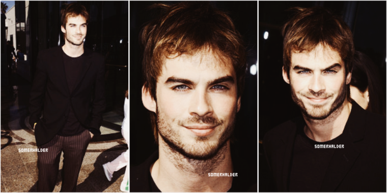Ian a la ABC Winter Press Tour. | En 2004.