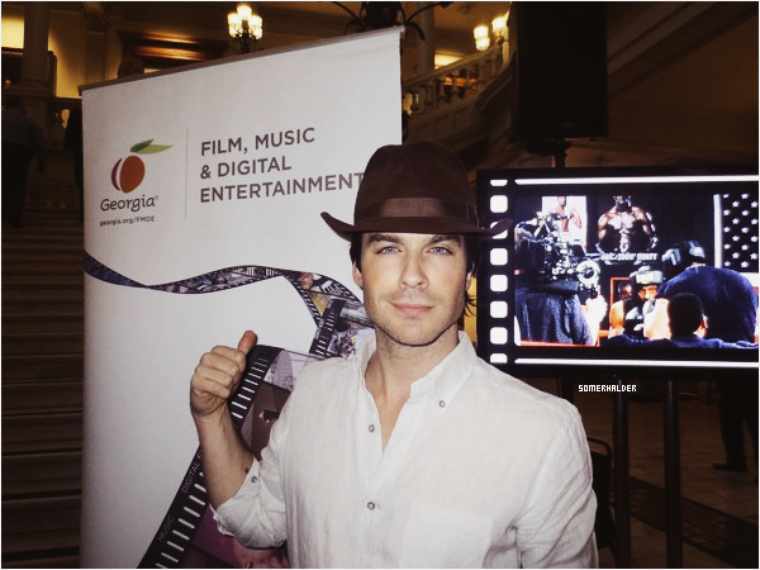 Ian soutient l'industrie cinématographique GaFilmDay en Georgie ce 22 février 2016