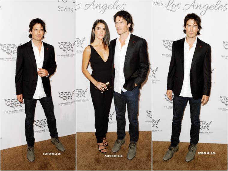 """Ian et Nikki a la cérémonie """"The Humane Society Gala"""" le 7 mai."""