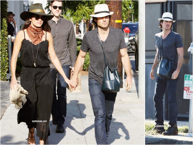 Ian et Nikki à Gracias Madre à West Hollywood le 12 mai.