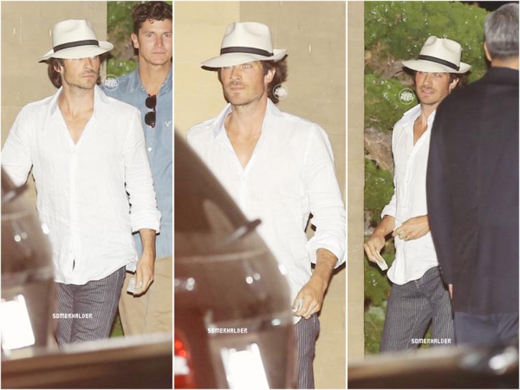 """Ian sortant du restaurant """"Nobu"""" après la fête d'anniversaire de Nikki le 16 mai."""