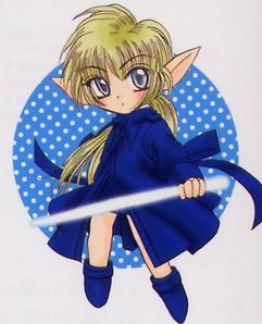 Le chevalier bleu chibi