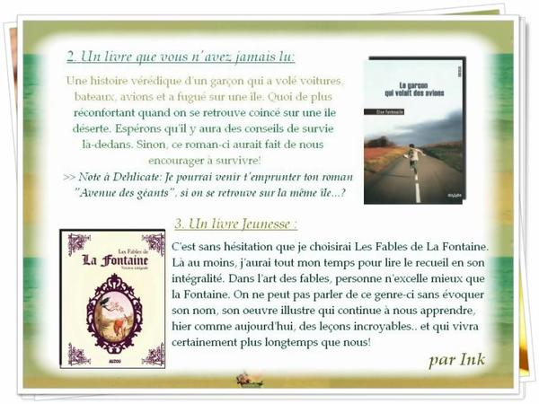 Desert Island Book (P2)