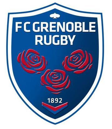 L'entraineur et le logo de Grenoble
