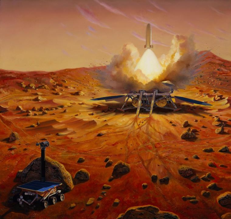 Mars sample return mission