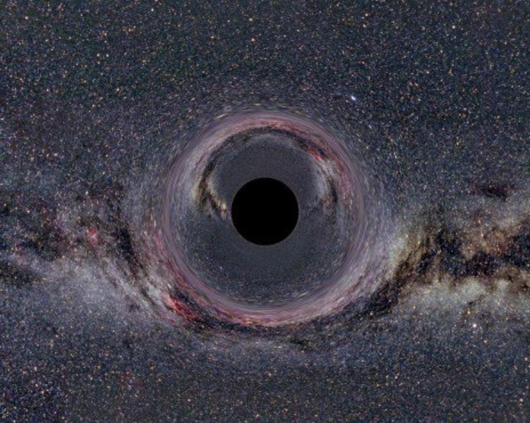Déformation de la matière par les trous noirs