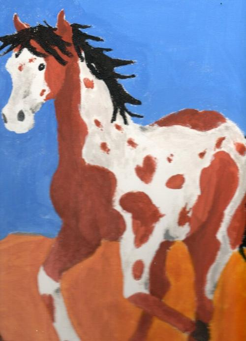 peinture chevaux 1ère partie