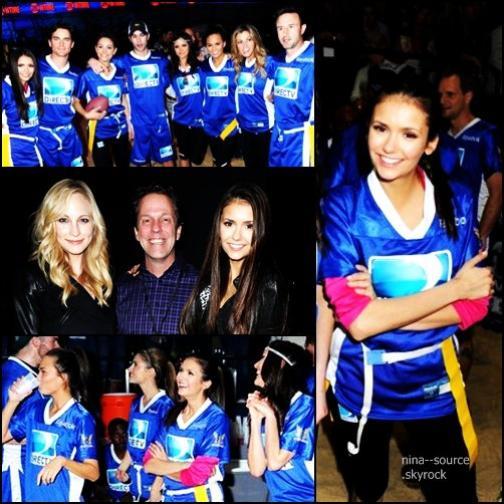 """04.02.2012 Nina s'est rendue à la 6ème édition de DIRECTV Celebrity Beach Bowl & à une fête organiser par le magazine """"Rolling Stones""""."""