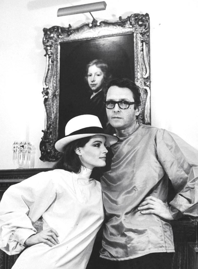 Romy SCHNEIDER et son mari Harry MAYEN en Angleterre photographiés par Bill RAY en 1968.