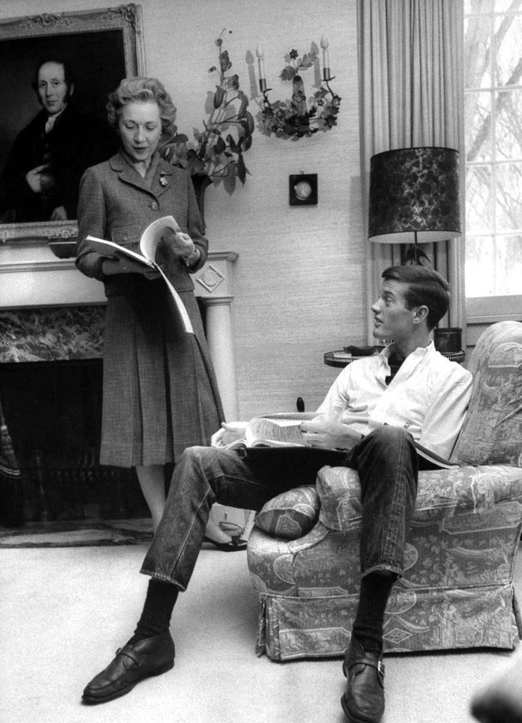 Peter FONDA en pleine répétition à Omaha en 1961 sous l'ojectif de Francis MILLER.