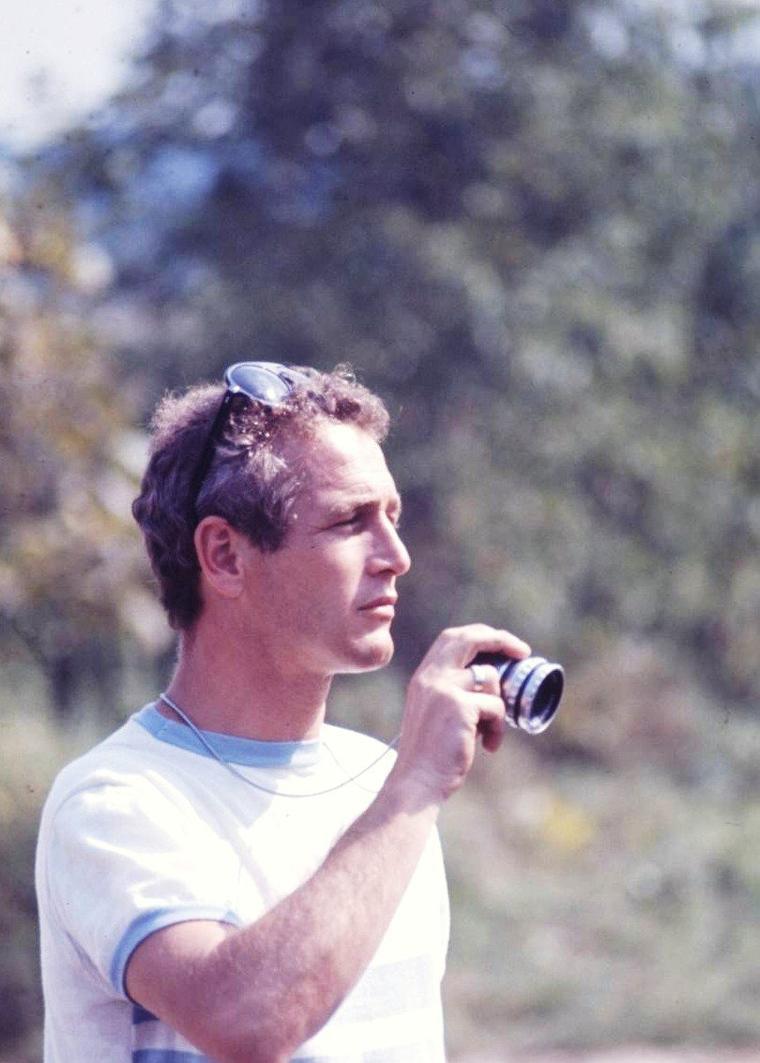 Paul NEWMAN sous l'objectif de Mark KAUFFMAN aux alentours de 1968.