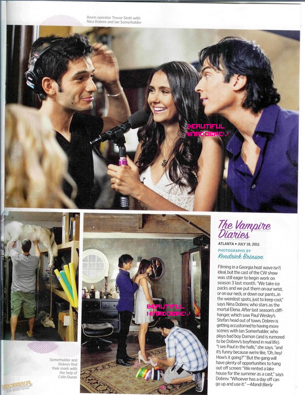 "Scans du magazine ""Entertainment Weekly"", édition du 12 août."