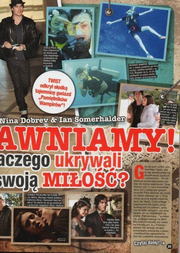 """* Nina fait la couverture de l'édition du mois d'août du magazine polonais """"Twist"""". Depuis la dernière fois, je ne comprends toujours rien au polonais. Donc celui ou celle qui parle polonais peut toujours me faire une petite traduction (a) *"""