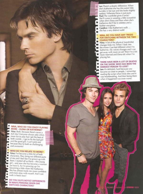 """* Nina fait la couverture de l'édition du mois de septembre du magazine """"Creme"""".*"""