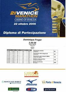 MON 12 EME MARATHON LE 22 OCTOBRE 2006 A VENISE
