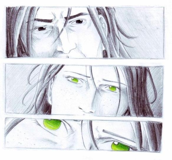 Titre: Regarde-moi. Résumé: « Je ne te demande rien sinon de la voir quelques minutes. » On raconte que la dernière fois que Lilly Evans pensa à Severus Rogue c'était lorsque leur amitié se brisa à jamais, à la fin de leur BUSE. Pourtant, une part de l'histoire a été oubliée dans les souvenirs que Rogue offrit à Harry ce soir-là. Une part de l'histoire qui ne fut jamais avouée à quiconque. Et si Severus s'était repentit de ses péchés ? Si son amour pour Lilly l'avait sauvé des ténèbres bien avant la mort de cette dernière ? « Nous verrons..» Fandom: Harry Potter Personnages principaux:  Severus Rogue  Registre: OOC (léger), dramatique, lyrique, drame humain.
