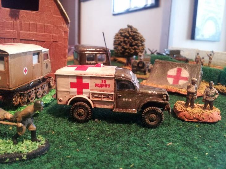 Une ambulance Dodge au fin fond de la Russie