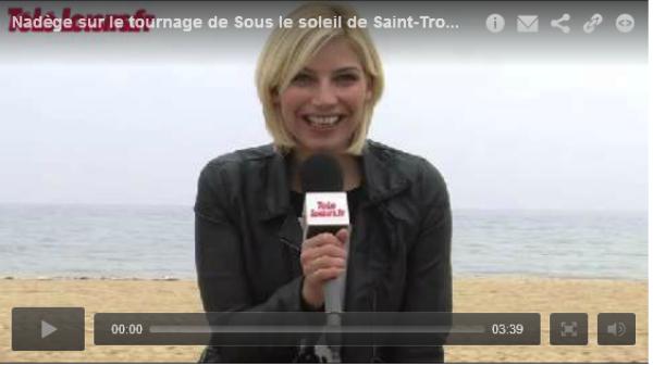 """TéléLoisirs avec Nadège sur le tournage de """"Sous le soleil""""!"""
