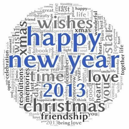 On vous souhaite une bonne et merveilleuse année 2013!