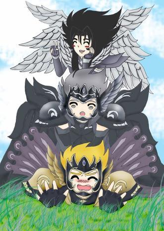 Et une petite photo des trois dieux !