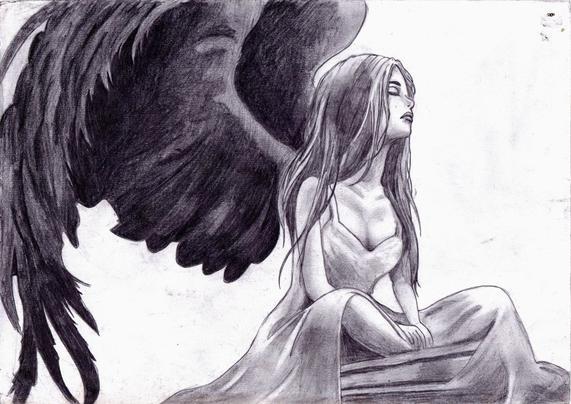 Ange Qui Pleure un ange noir est un ange qui a perdu sa lumière à forçe de pleurer