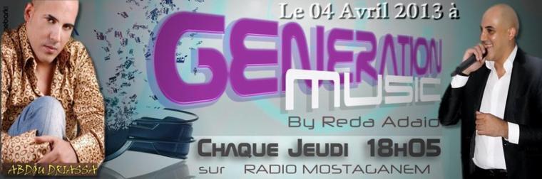 Abdou Deriyassa Sur Génération Musique ce jeudi 04.04.2013