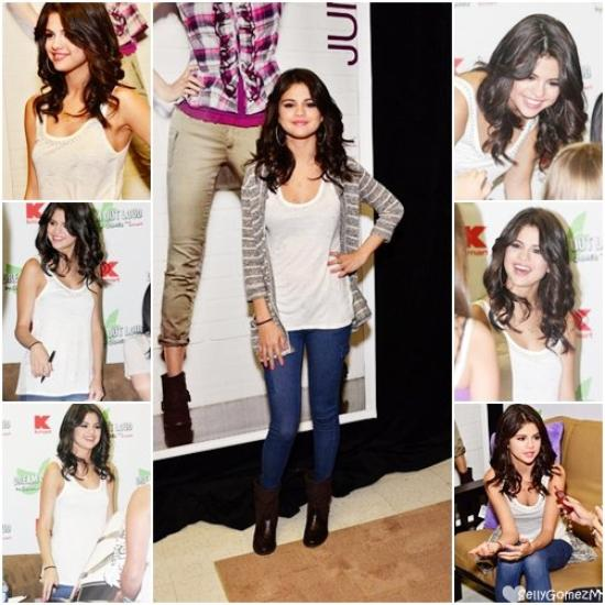 19 Aout :  Selena se trouvait à Philadelphie pour faire la promotion de la nouvelle collection de « Dream Out Loud » dans un magasin K-Mart.