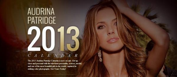 le 26 décembre - Audrina fait la promo de son calendrier 2013