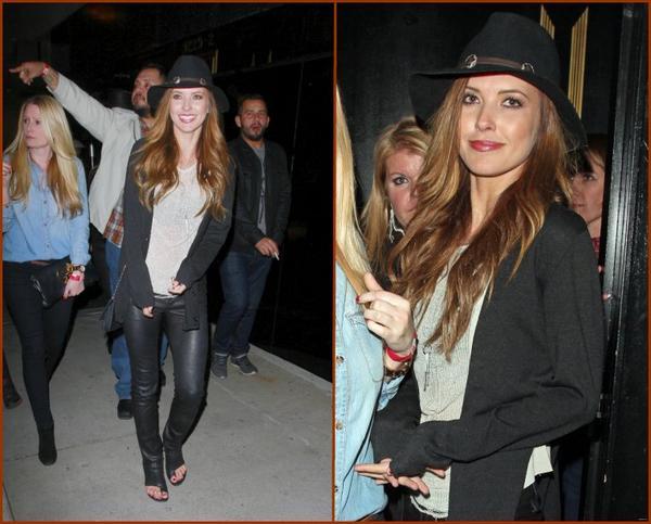 Audrina et des amis quittent le Bootsy Bellows Nighclub, le 12 janvier