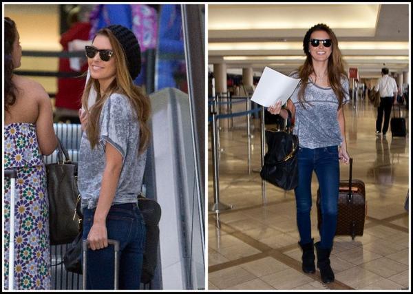 Audrina à l'aéroport de L.A, le 13 mars