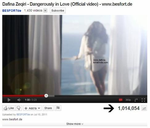 """Dangerously in love"" 1 milion klikime"