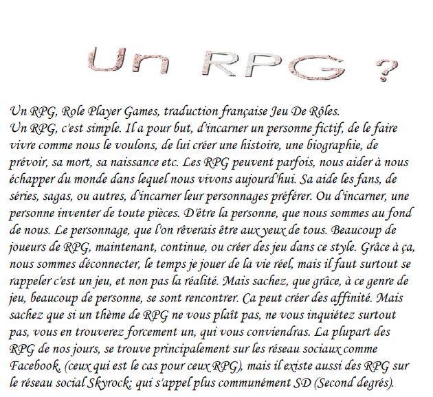 Les RPG
